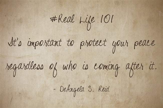 #RealLife101 #Important #Protect #Peace #Regardless #AfterIt https://t.co/XMWlyZcoCu