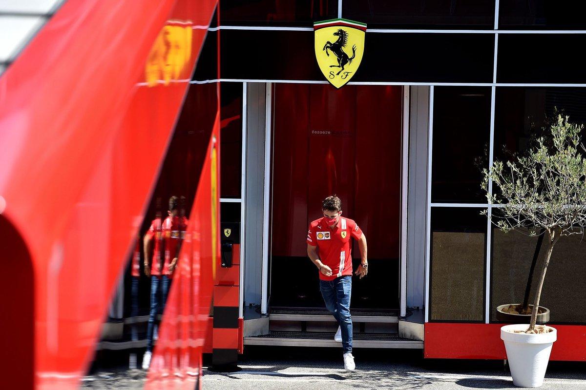 R A C E W E E K in #RussianGP 🇷🇺😃  📸: @ScuderiaFerrari   #CharlesLeclerc #Charles16 #F1 #Formula1 https://t.co/FdDZtAov89