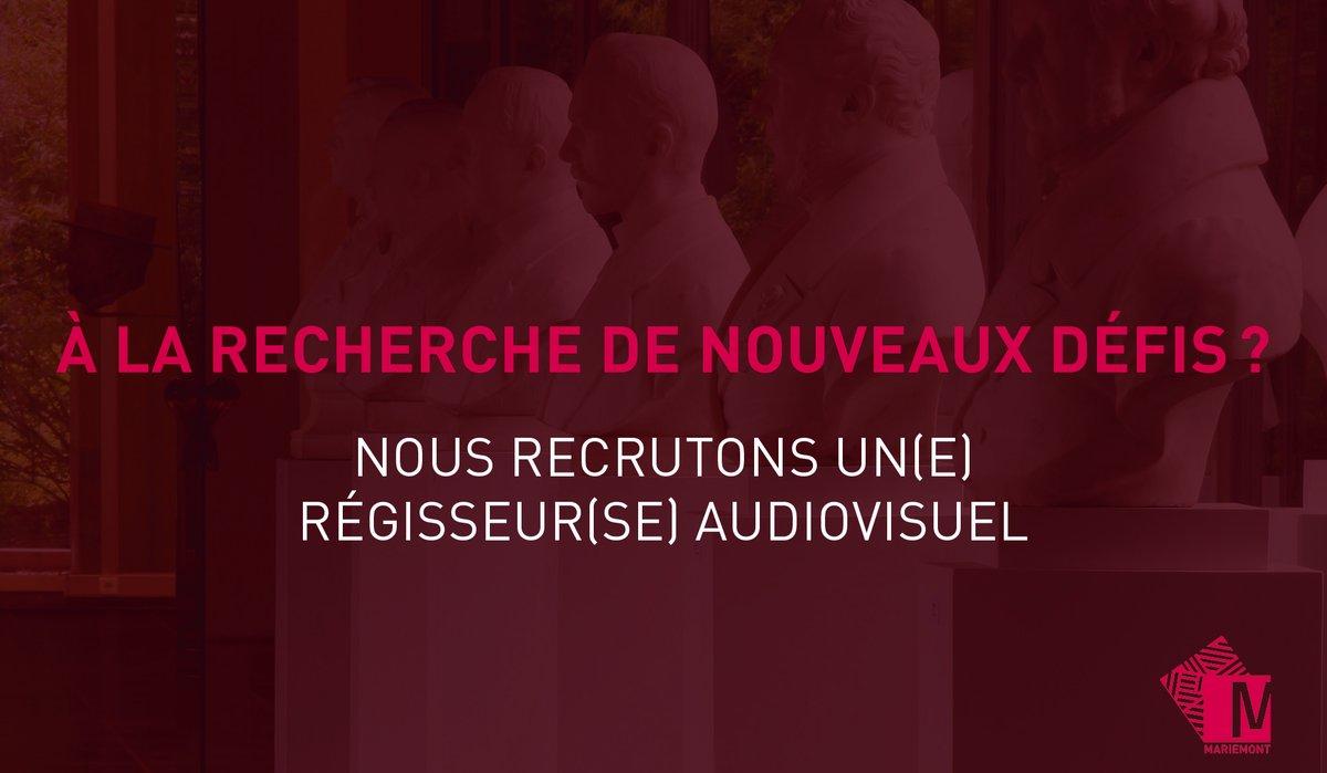 📣[Offre d'emploi] Le Musée recherche un Gradué spécialisé – Régisseur audiovisuel (H/F/X).  Références de l'offre et plus d'infos : https://t.co/SQaevEkdjc  ⏰ Candidatures jusqu'au 26 septembre 2020 inclus. #joboffer #jobopportunity #offredemploi https://t.co/rLVJPB8mOB