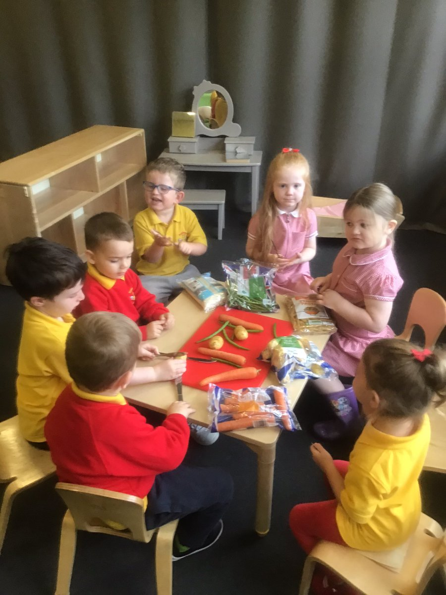 Marvellous Monday and the crocodiles are learning about how we prepare and eat different food. We slice, cut, peel, and lots of other ways. It's so much fun #Food #preperation #teamwork https://t.co/w27Rpo2ihJ