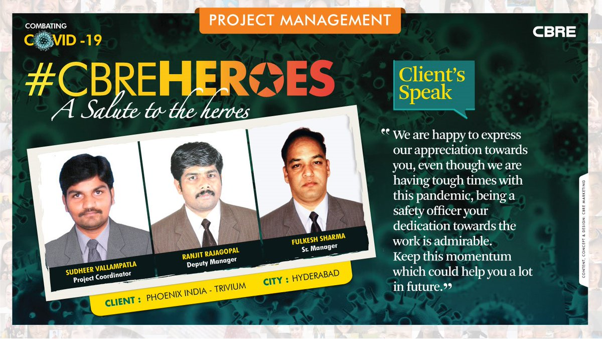 #Teamwork makes the #dream work.  Here's to the relentless commitment and dedication of our #PJM team towards work and client delight. Your sincere efforts and hard work are indeed highly appreciated.  #IamCBRE #CBREHeroes #ProjectManagement  @CBREPJM  @gurjotsbhatia https://t.co/G3OUSozgfk