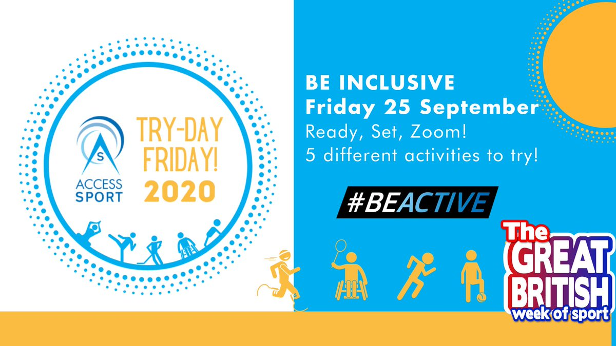 RT @AShigh_sheriff: To celebrate the #BeInclusive Great British Week of Sport,  @AccessSport  are hosting 'Try-Day Friday' packed full of your favourite sports and activities!  See the timetable of activities & signup here  https://t.co/42gsiRhcpF