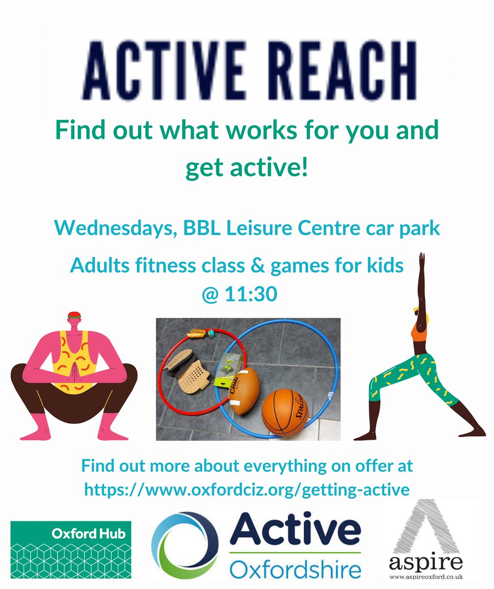 RT @OxfordshireMind: Did you know that @Aspireoxford offer free physical activity support every week?  📍 Blackbird Leys Leisure Centre Car Park ⏰11:30 🗓️Every Wednesday  #sport #wellbeing #mentalhealth #everymindmatters #thisgirlcan