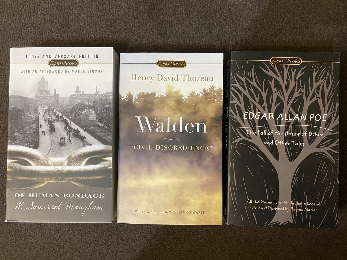 Many #English-language #paperbacks are now in store  ➡️ First published in 1854, #Walden is a reflection upon simple living in natural surroundings by #American #writer H.D. #Thoreau  #books #livres #novel #poe #maugham #neuf #occasion #librairie #libraire #LaBourse #Lyon https://t.co/xAVITRI8vB
