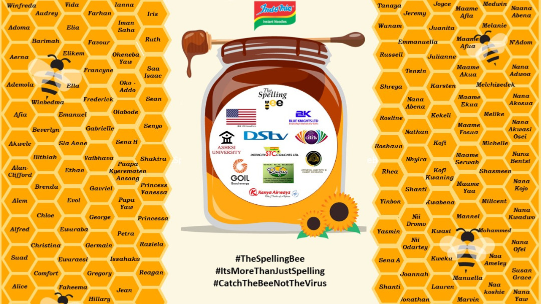 The 2020 edition of #TheSpellingBee will go down in history as the year we saw the most resilient Spellers in the country. We join @TSBeeGH in saluting all 133 Semi-Finalists!!  #ItsMoreThanJustSpelling #CatchTheBeeNotTheVirus https://t.co/N5XKWyzQgA