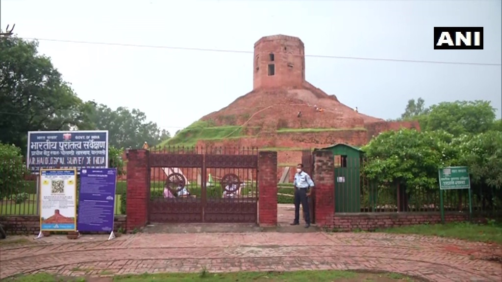Sarnath: Buddhist sites reopen for public from today as part of #unlock4. A visitor says, We are happy that we can visit these places now, it is so serene that we dont want to go back home.