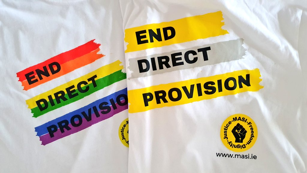 What a great way to start the week! My two @masi_asylum End Direct Provision t-shirts have arrived this morning. I will wear them with pride and continue to support efforts to end the humiliating and inhumane system that is Direct Provision  #EndDirectProvision https://t.co/mubK0s9PQa