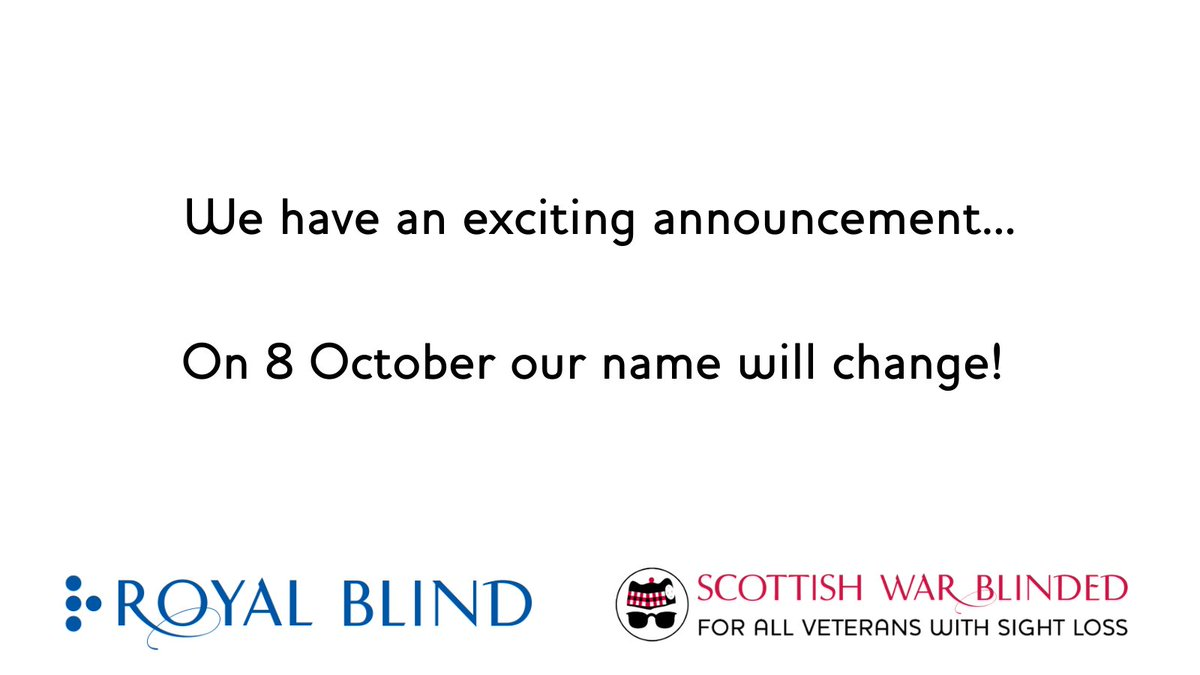 We are so excited to announce that on 8 October – our name will change! Over the next 2 weeks we'll be sharing highlights of our journey so far, ahead of revealing of our new name. Our heritage is so important to us, and it's been a big decision to change our name. https://t.co/nVjPqr05iu