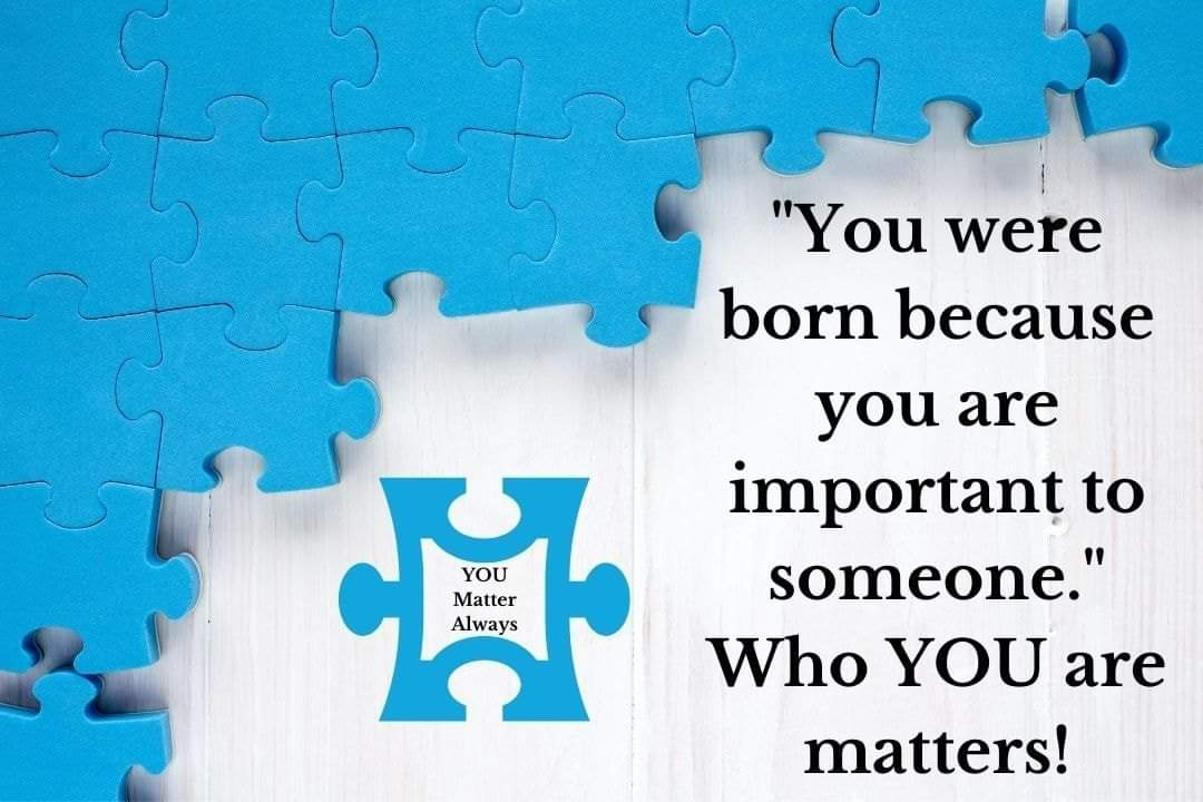 Who you are matters 💜💜💜 #YouMatterAlways #youareimportantandyoumatter #yourthoughtsmatter #yourfeelingsmatter #yourvoicematters #yourstorymatters #yourlifematters #always #AllThatYouAre https://t.co/CJQYXU0g5X