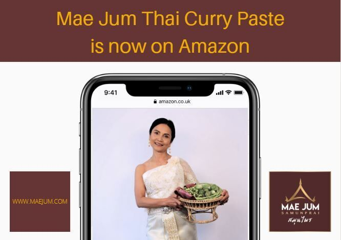 That's right! You can get your Thai Curry Paste on Amazon as well as our website 🌶 Lets get weekend ready 😋  Amazon: https://t.co/ohuTNnqiD7  Mae Jum Website: https://t.co/ES3hIthkI0   #thaicurry #currytime #weekendready #thaifood #amazon https://t.co/AnNEJmLiL4