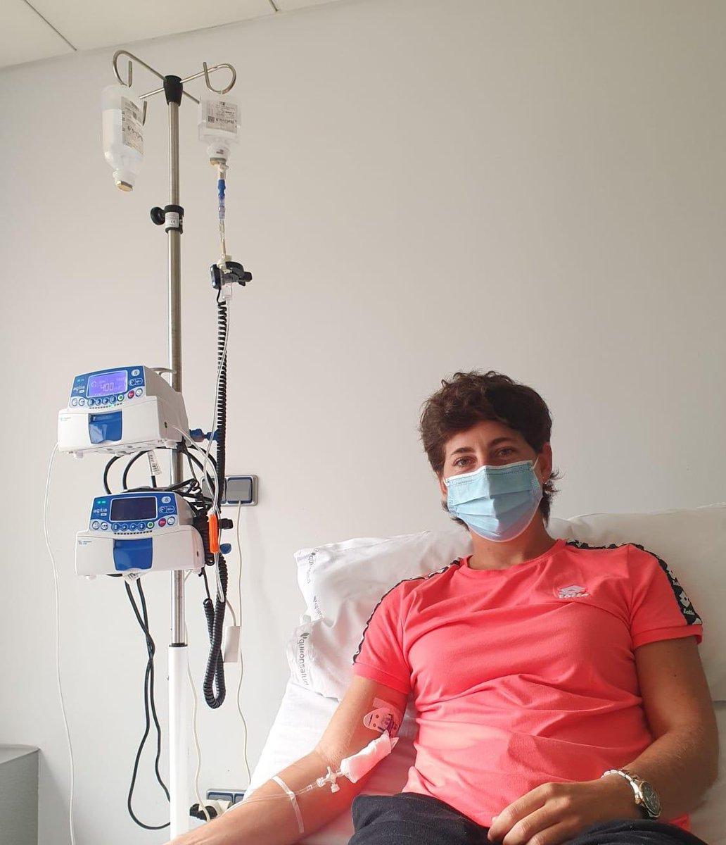 Preparada para comenzar los meses de tratamiento. Con valor y esperanza para lo que venga. Les agradezco de corazón el apoyo. ☺️ https://t.co/VMAKoUvD9p