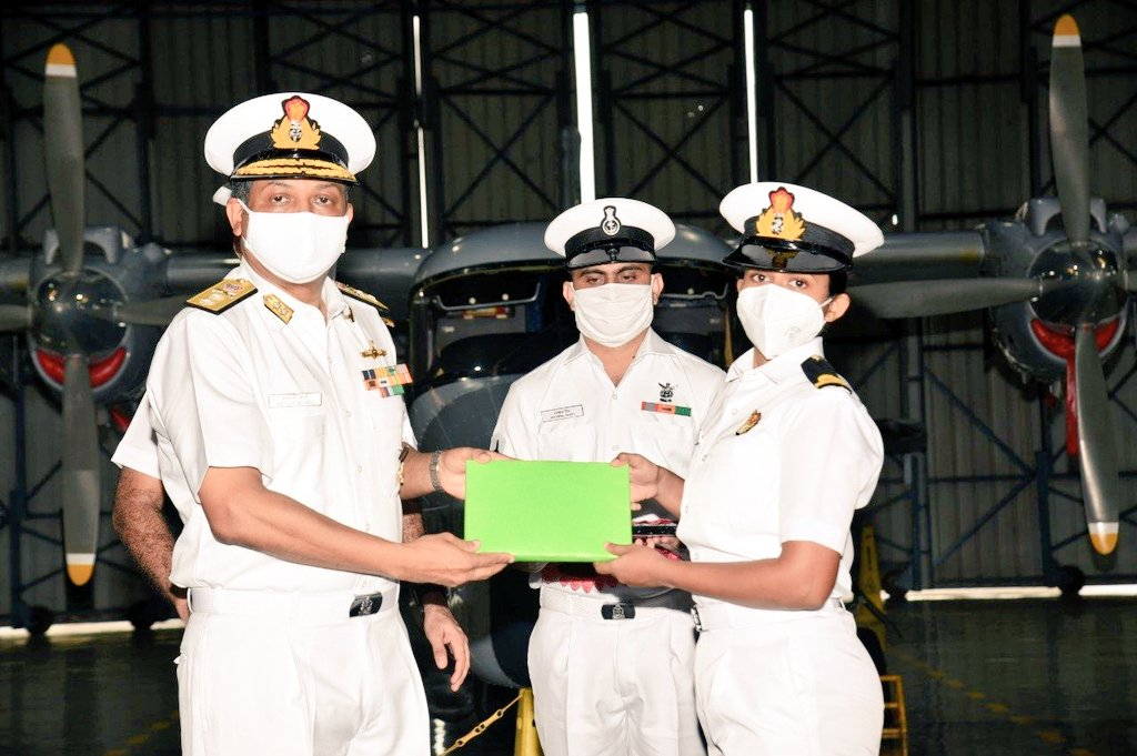 I congratulate Sub Lt Kumudini Tyagi and Sub Lt Riti Singh for becoming the first women airborne combatants in the Indian Navy who will operate helicopters onboard warships. May you soar to greater heights. So proud of your achievement.
