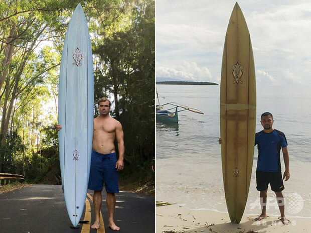 【SNSで特定】ハワイで紛失のサーフボード、8000キロ先のフィリピンで発見元の持ち主は現所有者と連絡を取り合い、新型コロナによる旅行制限が解除されたらボードを取りに行く予定。