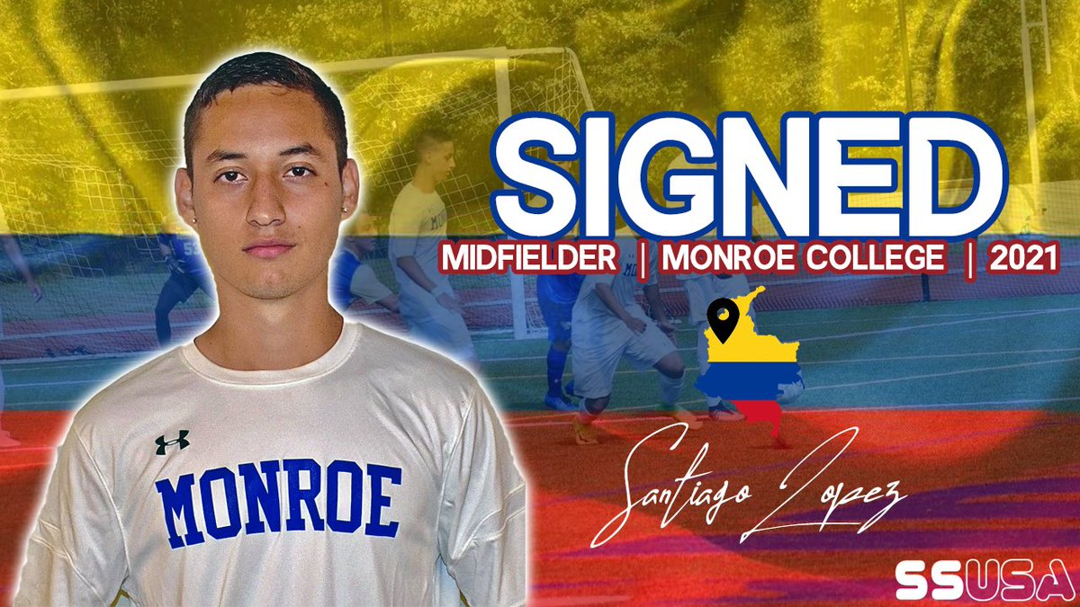 ★ New Signing! ★  Santiago Lopez 🇨🇴 Midfield Monroe College / NJCAA 2021 Video Highlights: Coming Soon!  🍿🇺🇸⚽️ ★★★★★  #Midfield #CAM #Columbia #SouthAmerica #Baller #SSUSA #America #RecruitMe #CollegeSoccer #NCAA #NJCAA #NAIA #Transfer https://t.co/PkKlA02jkG