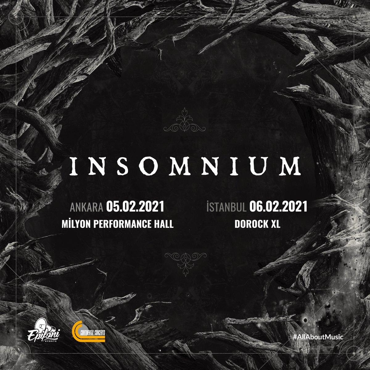 Fin melodik death metal grubu Insomnium ilk kez Türkiye'de!  Insomnium, 6 Şubat'ta Dorock XL sahnesinde! Biletler yakında Biletix ve Dorock XL gişelerinde.  #DorockXL #DorockXLKadıköy #Dorock #Insomnium https://t.co/FuEaMr1AFI