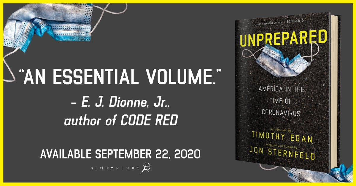 """""""UNPREPARED is the way to step away from the everyday's-the-same pandemic stupor to see how prescient some were of what was to come."""" ―Bill Bishop, author of THE BIG SORT  UNPREPARED by @JonSternfeld will be available tomorrow!   https://t.co/A5BC17N4DH https://t.co/mVw7XeuYam"""