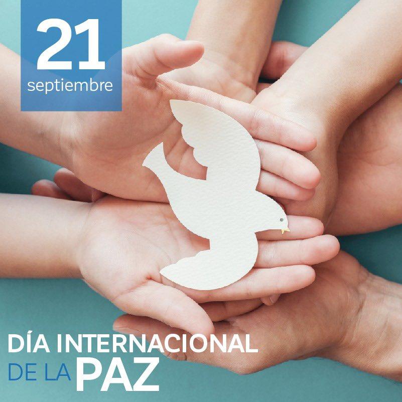 Hoy Día Internacional de la Paz fomentemos el diálogo, la tolerancia y la convivencia sana como herramienta para llegar a la paz. ✌️ #DíaInternacionalDeLaPaz #SanLuisSuenaFuerte #SLP https://t.co/OwV4fm5oFF