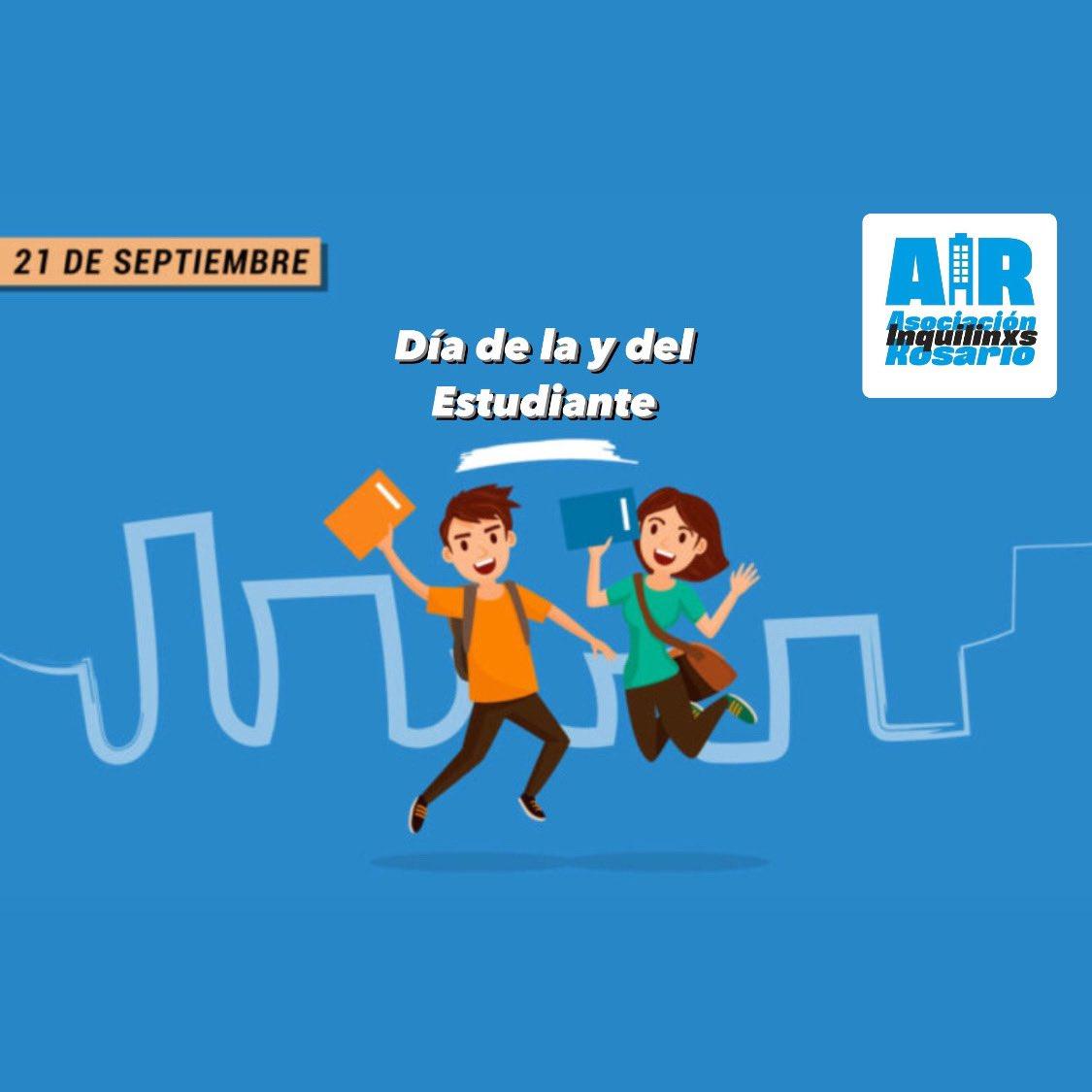Les deseamos un muy Feliz Día a las y los Estudiantes En especial a todas aquellas y aquellos que para estudiar deben alquilar su vivienda y con lo justo llegar a pagarla mes a mes #DíaDeLaEstudiante #DiaDelEstudiante #Alquilar #Rosario #SantaFe #Argentina #Inquilinos #Inquilinas https://t.co/zdFha3CyFv