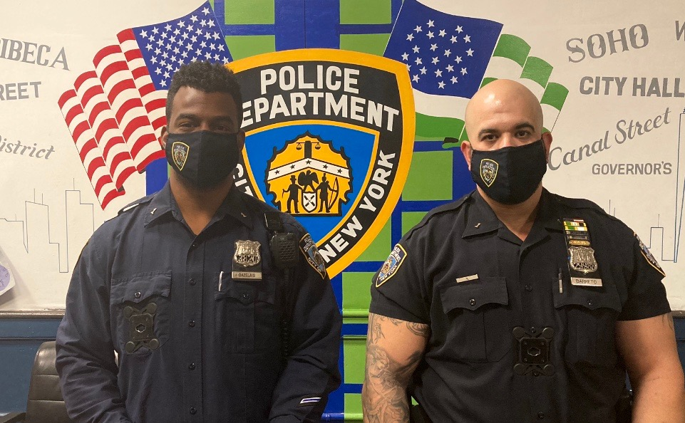 EXCELLENT WORK by Officers Bazelais and Baretto who apprehended and arrested an individual who just committed a burglary on Franklin St, closing out numerous complaints AND a burglary pattern‼️ #NYPDprotecting https://t.co/1KTlTuSkLd