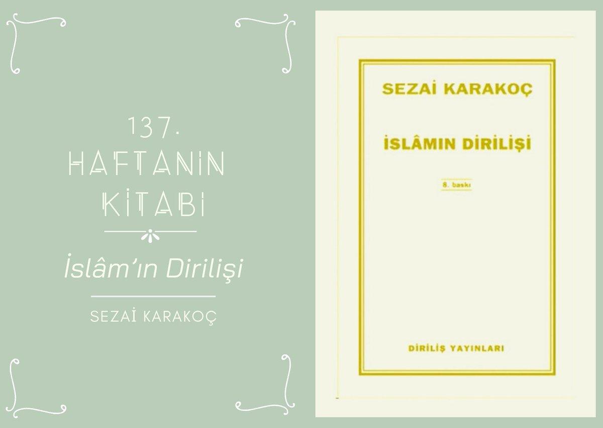 """Bu haftanın önerisi Sezai Karakoç'dan """"İslâm'ın Dirilişi"""" 📚  Keyifli okumalar dileriz. 😌 """"İslam'ın dirilmesi için Müslümanların dirilmesi gerektiğini anlatan sade ve akıcı bir kitap.""""  #meridyenokudukça #sezaikarakoç #islamındirilişi #islam #müslüman #diriliş https://t.co/iZ6VC46dAQ"""
