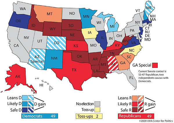 Crystal Ball: Major rating changes today -  Susan Collins (R-ME) Toss-up to Leans D Lindsey Graham (R-SC) Likely R to Leans R ME-2 electoral vote Leans R to Toss-up  https://t.co/WW4cqagVAR https://t.co/lyXd2Rf8yV