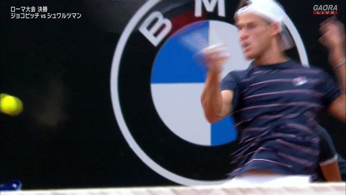 第1セット第10ゲーム シュワルツマンキープ 5-5  セットポイントを握ったジョコビッチだったが シュワルツマンが踏ん張った  🇷🇸ジョコビッチ vs シュワルツマン🇦🇷 BNLイタリア国際 ATP Masters 1000 決勝🎾 https://t.co/et9WIDXrpv