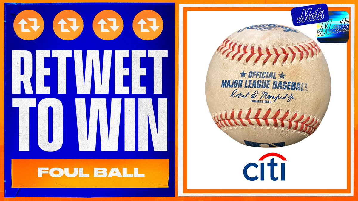 We want to get in on the fan appreciation action! ⚾️  RT this to enter to win a foul ball hit this season courtesy of @Citi! #LGM #THXMetsFans  Rules: https://t.co/yuZR77zfBY https://t.co/TC6i2ynBdg
