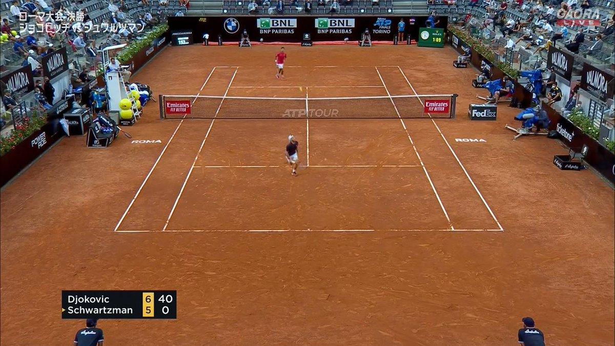 🇷🇸ジョコビッチ vs シュワルツマン🇦🇷 BNLイタリア国際 ATP Masters 1000 決勝🎾 https://t.co/M2MEja5Bxs