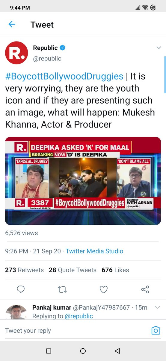 """#BoycottBollywoodDruggies @deepikapadukone reportedly to be summoned by NCB. Looks like all the druggists of #BollyWood are big supporters of #TukdeTukdeGang of JNU bcoz of their common connection """"drug"""". @anuragkashyap72 @Javedakhtarjadu @KanganaTeam @taapsee @anubhavsinha https://t.co/q5BlApIKCh"""