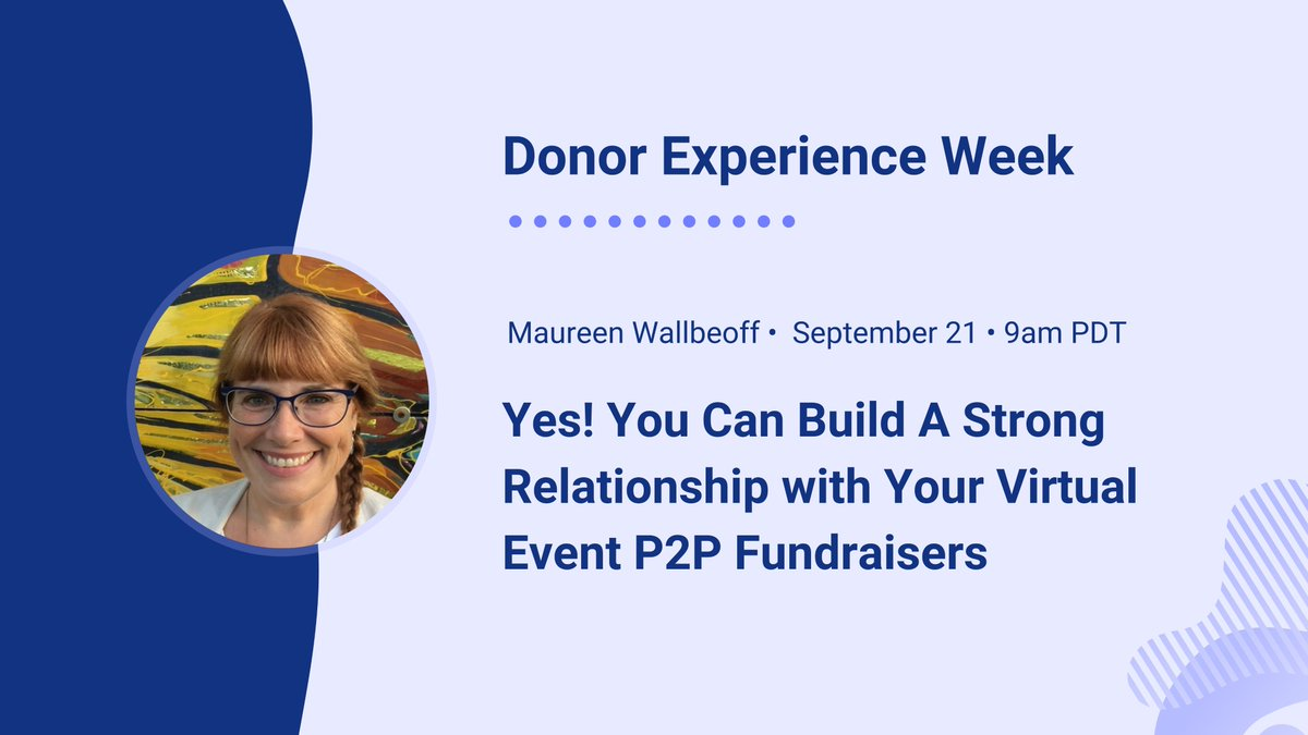 Add some 'ooomph' into your next P2P fundraiser. @meetmaureen lays out a framework for success in our first session of #DonorExperienceWeek   https://t.co/LhoigROA6m https://t.co/MFCa0brBC7