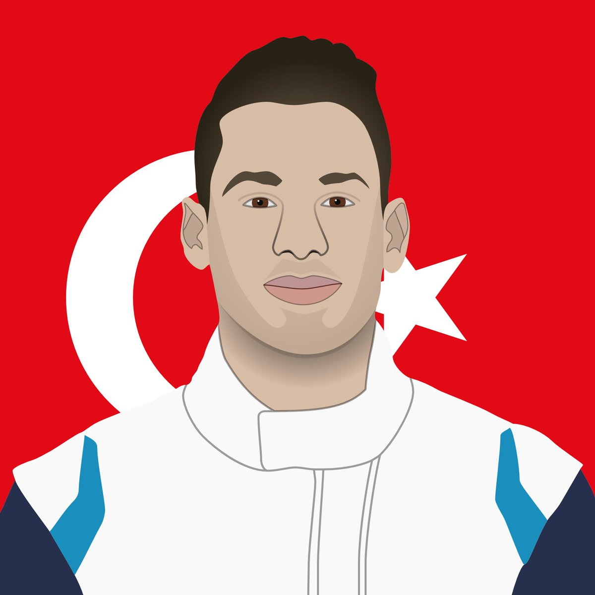 ⭐️ F1 Esports Special Project · Portraits  🇹🇷 Cem Bolukbasi  After being part of the #F1Esports series in 2017-2019, Cem is currently racing in #GT4Europe in the #12 BMW M4 entered by Borusan Otomotiv Motorsport  #vectorgraphics 👨‍💻 https://t.co/fURTf8WBkH