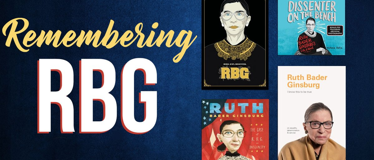 Today, we remember the life of Justice #RuthBaderGinsburg. Learn more about the legacy #RBG leaves behind with this collection of #ebooks, #audiobooks, and #movies.    📚 https://t.co/uyCygTMymN https://t.co/sqDXZJS0JR