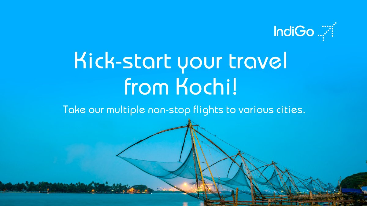 Fasten your seatbelts as we're ready to fly you from Kochi! Choose 6E, fly non-stop and hassle-free! Book now https://t.co/NRzOsyKFjl #LetsIndiGo #aviation https://t.co/c8u4Eqqhmo