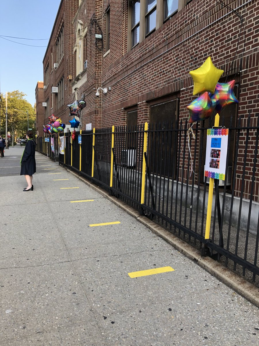 At Mosaic pre-k in Queens where ⁦@NYCMayor⁩ and ⁦@DOEChancellor⁩ are arriving shortly. Today was supposed to be the first day of in-person instruction. But with the delay announced last week, only 3K, pre-k and D75 students are arriving today. Everyone else is remote.