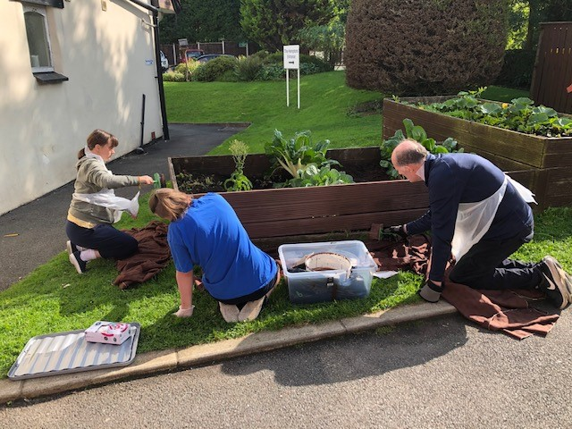 Our gardening group were making the most of the sun on Friday. Did anyone else do any gardening over the weekend? #greenfingers #gardening #OccupationalTherapy #MentalHealthMatters