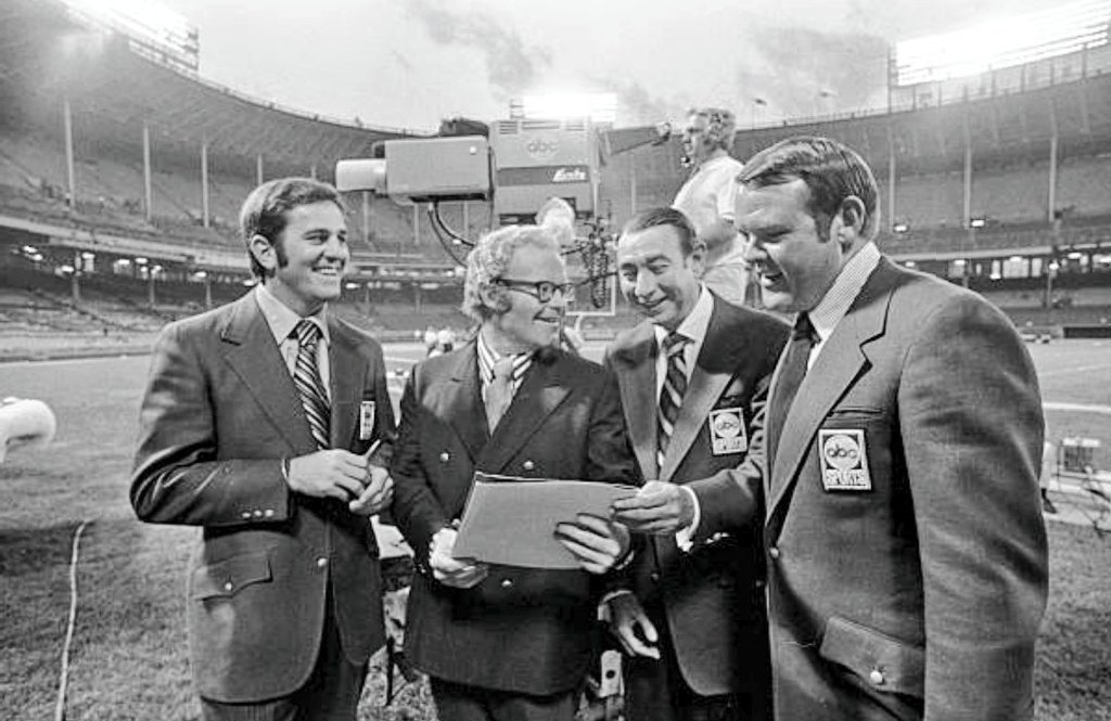 """Kevin Gallagher on Twitter: """"50 Years Ago Tonight (1970) One of televison's longest-running and highest-rated primetime programs ever, ABC's """"Monday Night Football"""" makes its regular season debut as the Browns down the"""