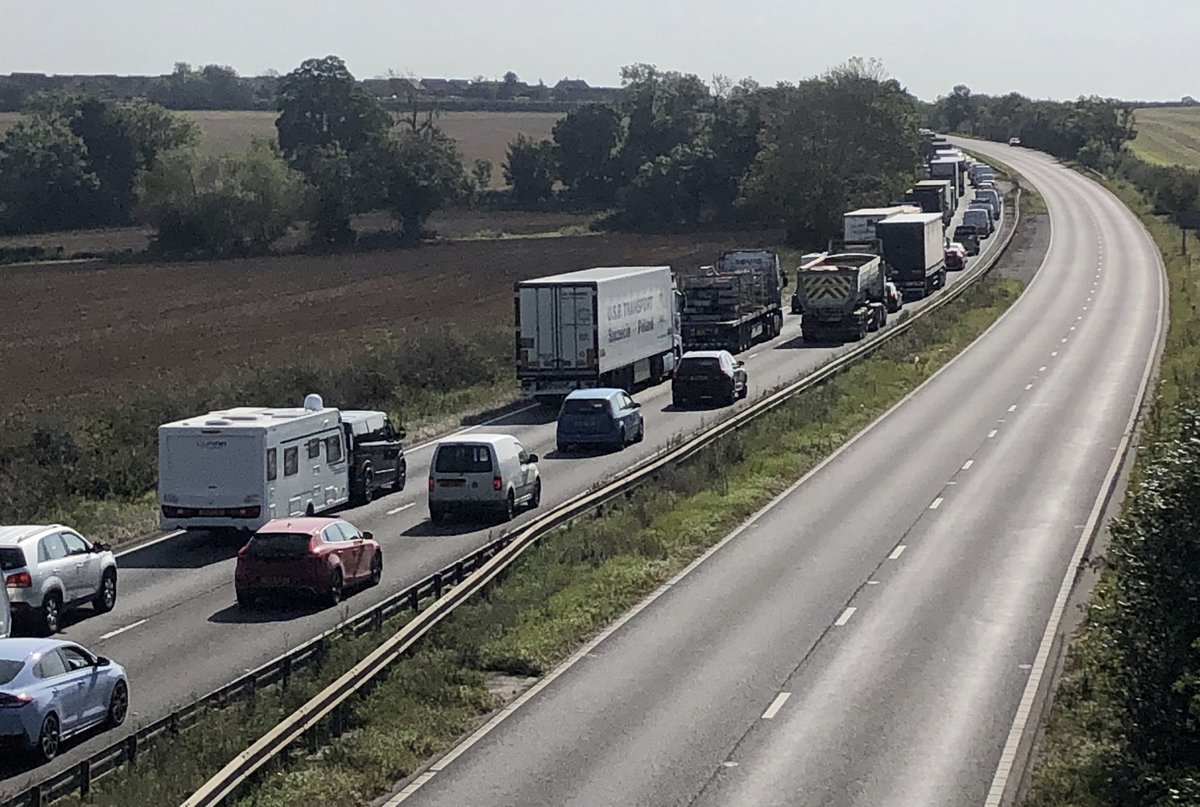 A1 lane closure causing significant delays https://t.co/E01cWNn9OG #A1 #Stamford #Wittering #Peterborough #Grantham https://t.co/reVx2sDhVx