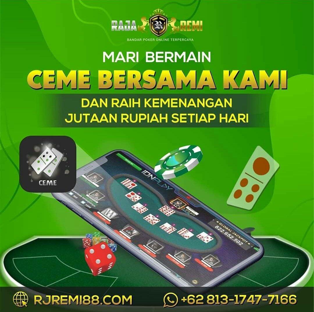 Rajaremi situs poker terpercaya.  -Minimal deposit 10.00  -Bonus new member 60.000  Website : https://t.co/Oo4jXeRF0q  #poker88 #pokerv #rajaremi #dewapoker #nagapoker #pokerace99 #agenpokerterpercaya #pokeronline  #ceme #bandarpokeronline #PuraPuraBahagia https://t.co/s2lNxsa0XX https://t.co/LXZ7wz7IKh