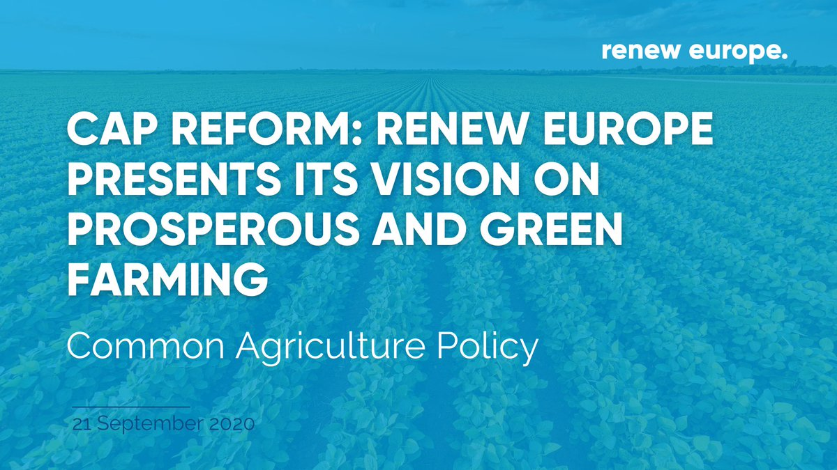 🚜Renew Europe has adopted a detailed group position for a successful #CAP reform, that we outlined in a new vision paper aiming for prosperous and green farming!.  📰 Read it here: https://t.co/5DaN9Rw2TY https://t.co/lVbwUI09Cp