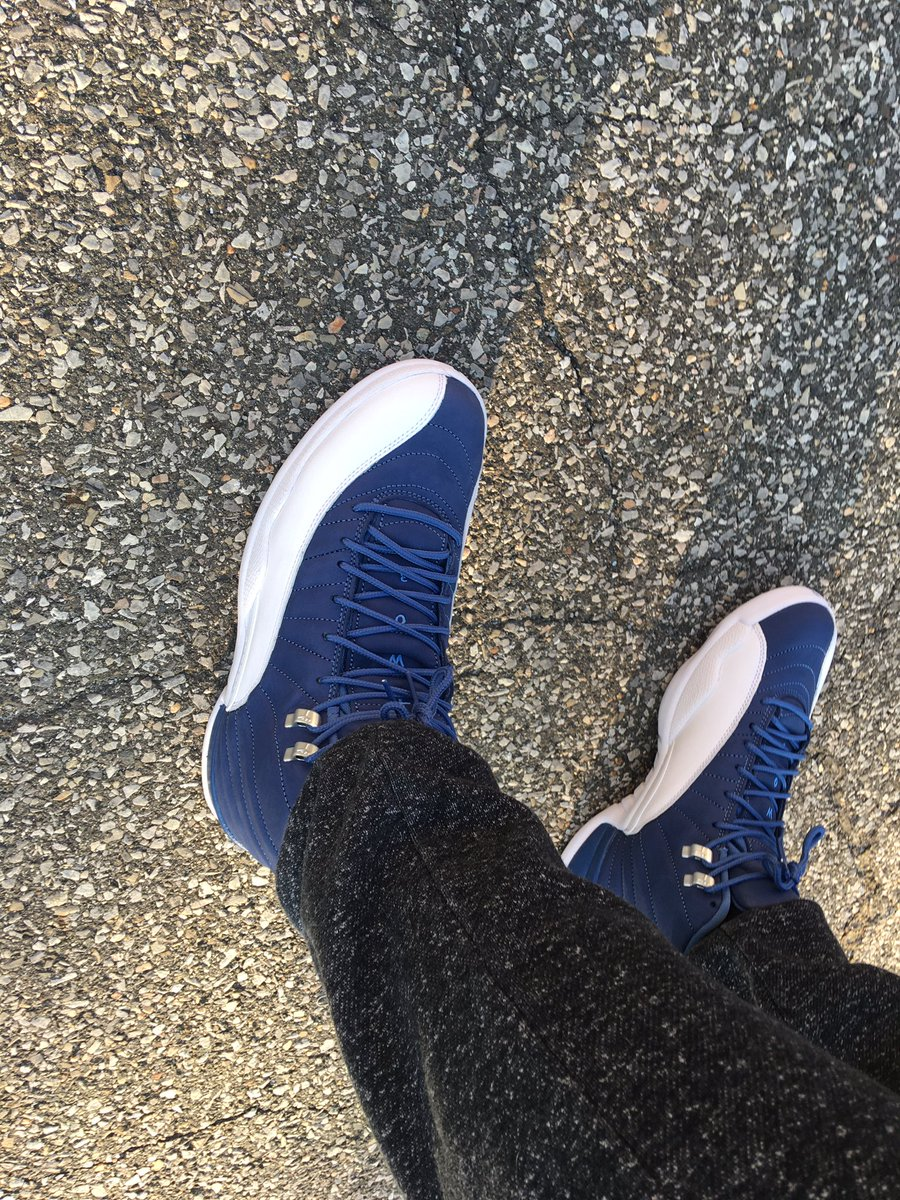 #TheComeback #ShoeGameStillStrong #AirJordan #Jordan12 #KOTD #SchoolColors Told y'all....if I'm making a comeback, it's going to be a strong one! More to come https://t.co/VLYvpurHRy