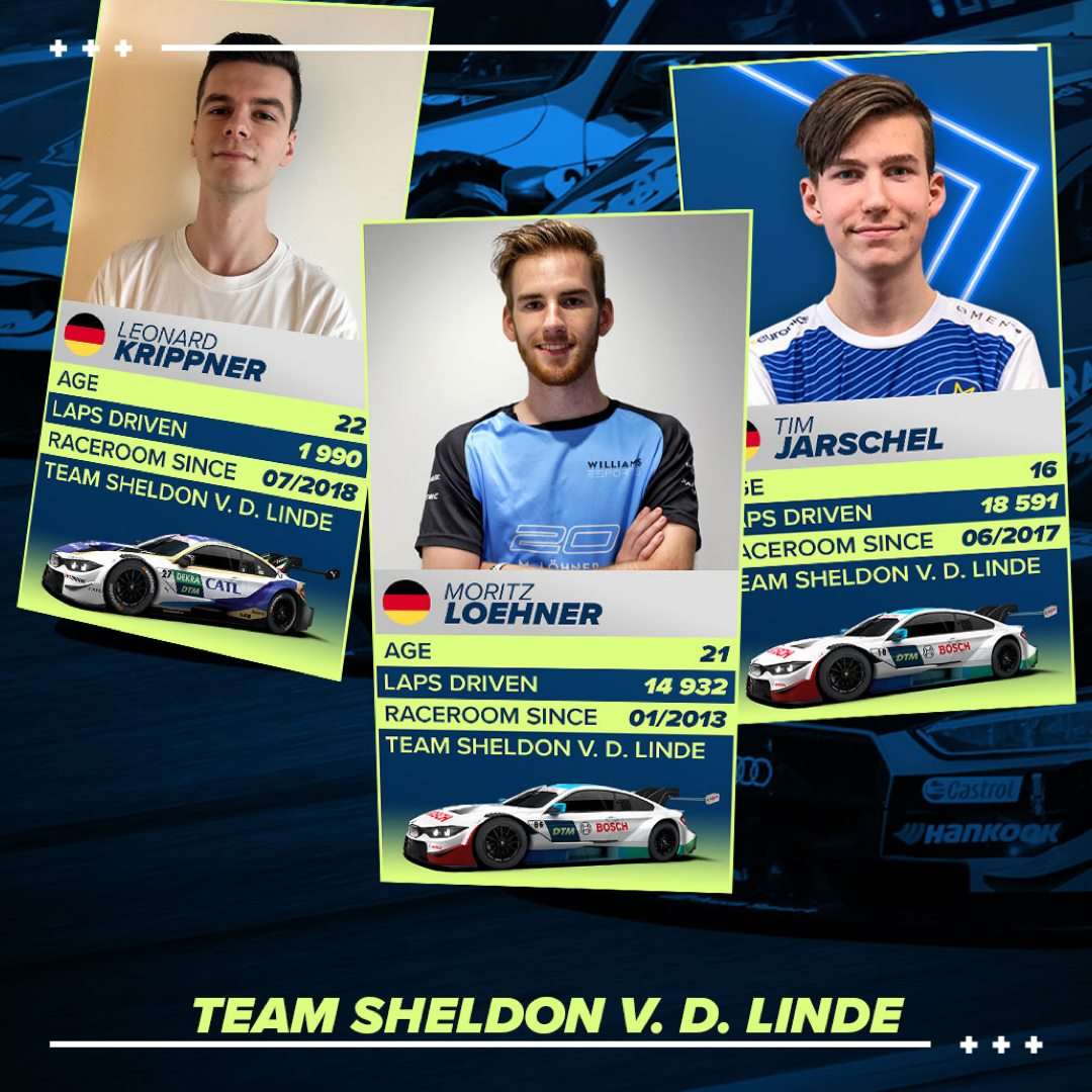 T-1 Day before we go racing in the DTM Esports Championship! I'm in Team @SheldonvdLinde and our driver lineup is looking very strong! #DTMEsports #WilliamsEsports #BMWEsports #BMWsim https://t.co/OqpYOynkEN