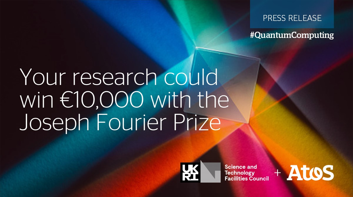 We're always supporting innovative work in #QuantumComputing. Find out how your research can win €10,000 in the very first @HartreeCentre and Atos Joseph Fourier Prize https://t.co/aRqI9dEYXU https://t.co/TKBZxSqurz