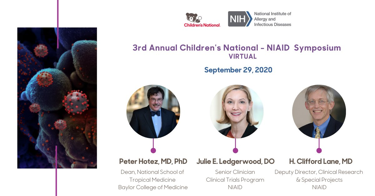 This year, the 3rd Annual #CNNIAIDSymposium will highlight the #Covid_19 & #MIS_C #pandemic, with a specific focus on the #pediatric population. Join us at 2:20pm EDT on 9/29 where experts will discuss #Treatment #Strategies.@ChildrensNatl @cn_innovation @NIAIDNews https://t.co/ccmlOhkgDk