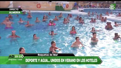 ANDALUCÍA DIRECTO ¿Aprovechaste el verano para hacer un poco de ejercicio en la piscina 🏊🏻♀️? @MarGCapella lo hizo en un hotel de Roquetas de Mar. Te lo contamos en nuestro Facebook.   #Facebook #CSNAlmería 🌐https://t.co/I2GaYBug1W #AD 🌐 https://t.co/TmEqliFc4T https://t.co/AuH7DOSQJ9