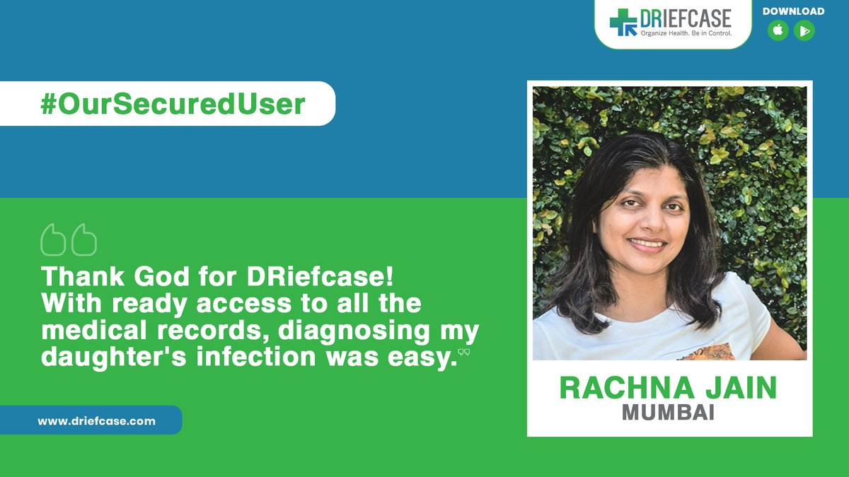 After a series of persistent throat infections, the pediatrician was keen to commence treatment on Rachna Jain's daughter for bronchitis. Thankfully, she benefited from having her past #medicalrecords organized on the #DRiefcase app, which helped her get the right #treatment. https://t.co/zcDvSwRAEB
