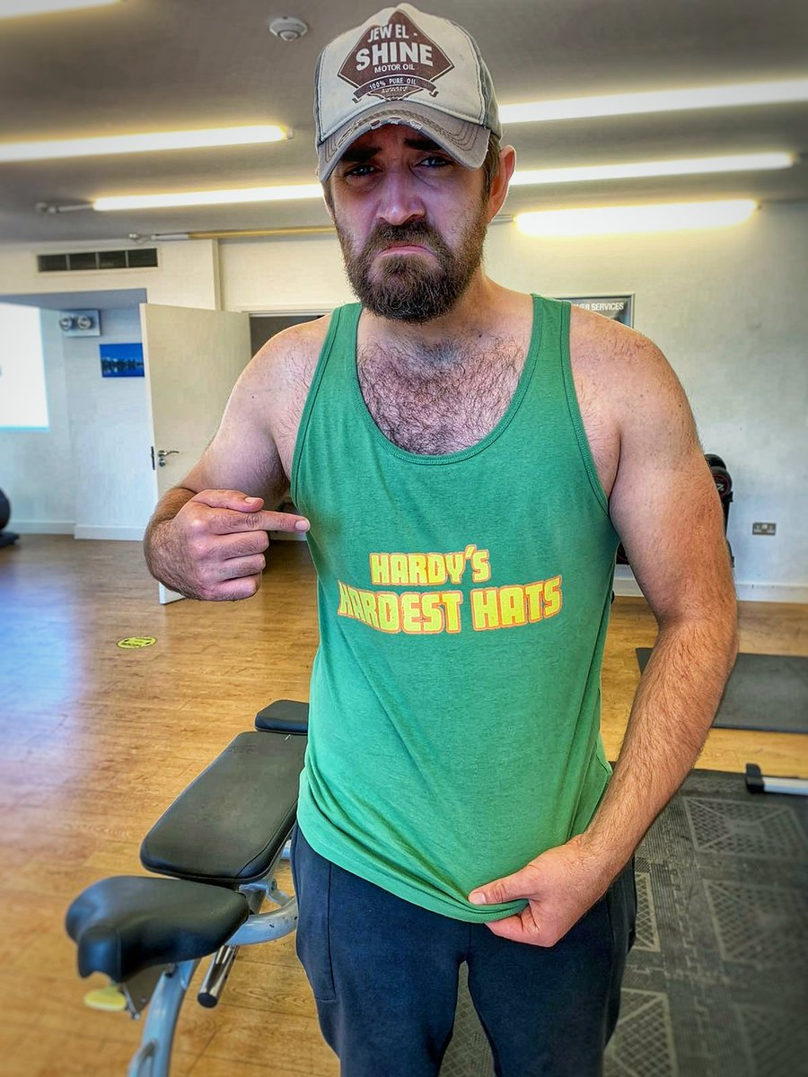 """Buy our official merch from @TeePublic by using our linktree in our bio and look like an absolute boss like @ryancbrannon does. And if you don't, as @tomhardy says """"you're hardly hard enough"""" #podcast #comedypodcast #podernfamily #comedy #gym #fitness #tomhardy #merch #lifting https://t.co/HLezbzv1if"""