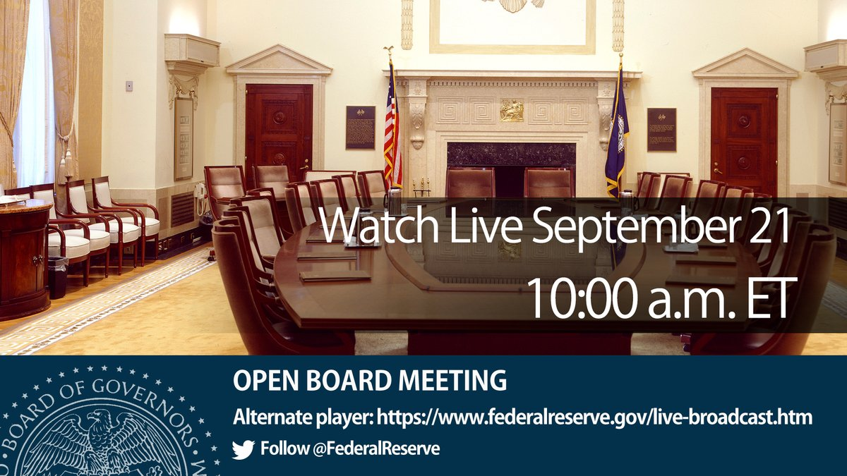 WATCH LIVE @ 10:00 a.m.: Open Board meeting on advance notice of proposed rulemaking on the Community Reinvestment Act (CRA): https://t.co/yhlHsn3yLP and https://t.co/FJa6TbkDMt https://t.co/OIte32vjbi