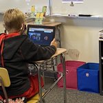 Image for the Tweet beginning: 6th graders are using Google