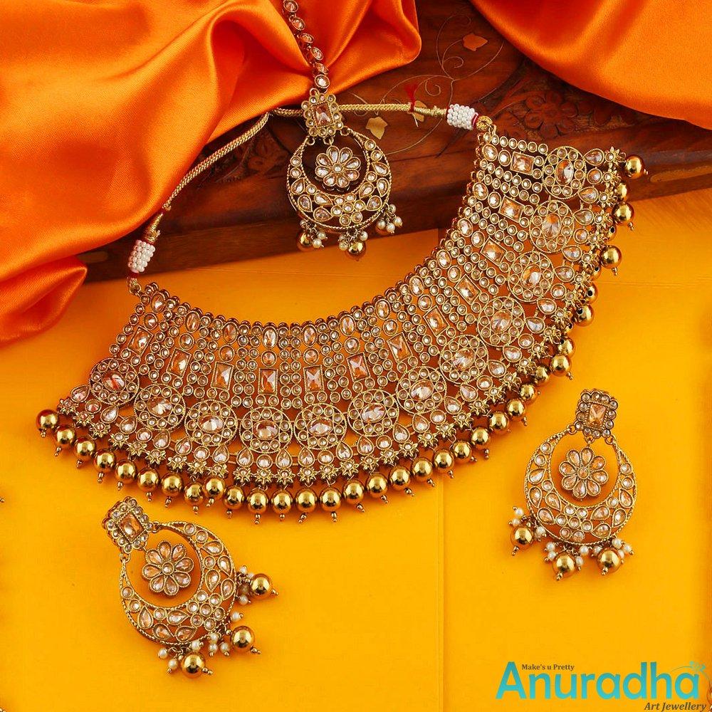 😍Gold Finish Traditional Necklace Set For Bridal 😍 🥳Shop Here: https://t.co/5MzN854R0v - - - - #necklaceset #necklace #necklaceforbridal #weddingjewellery #necklaceforwomen #necklaceforwomen #artificialjewellery #anuradhaartjewellery https://t.co/5nqms5ShOv
