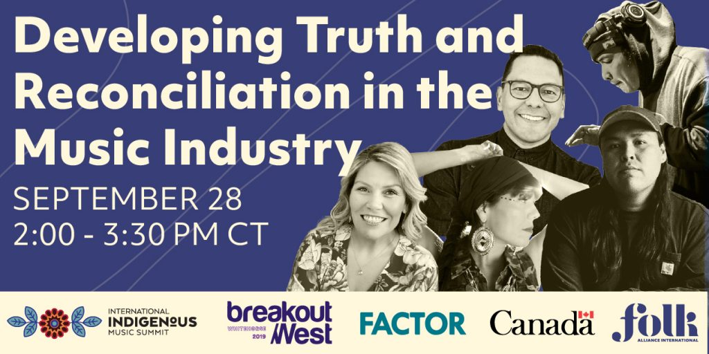 "Check out @BreakOutWest's ""Developing Truth and Reconciliation in the Music Industry"" panel on Monday Sept 28. Register now https://t.co/KI1gCI8MpF https://t.co/Pk5BPdJx8A"
